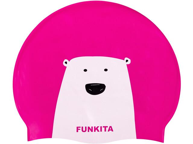 Funkita Silicone Swimming Cap, stare bear